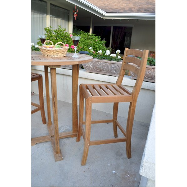 Mandalay 29 Teak Patio Bar Stool by Anderson Teak