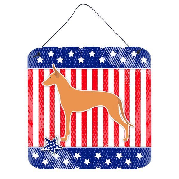 Patriotic Pharaoh Hound Wall Décor by The Holiday Aisle