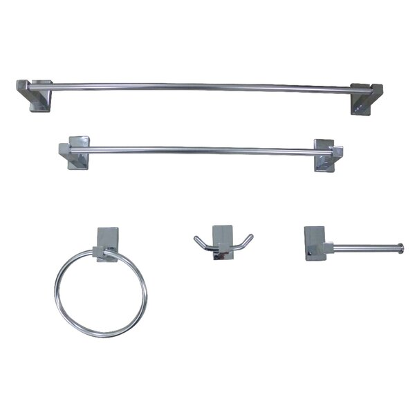 Continental 5 Piece Bathroom Hardware Set by Kingston Brass