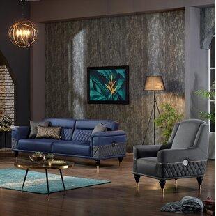 Chupp 2 Piece Sleeper Living Room Set by Everly Quinn