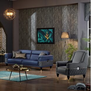 Despres 2 Piece Sleeper Living Room Set by Everly Quinn