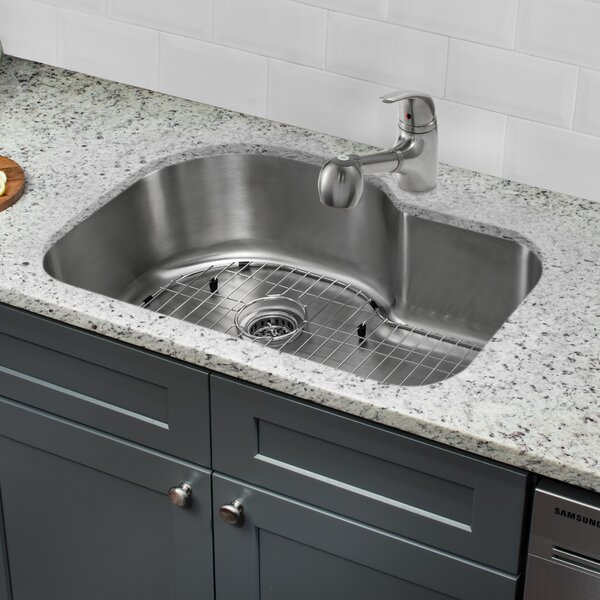 32 L x 21 W Undermount Kitchen Sink with Faucet and Soap Dispenser by Cahaba