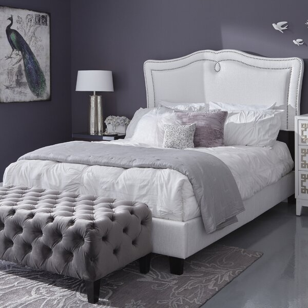 Hickerson Queen Sweetheart Shaped Upholstered Standard Bed by Charlton Home