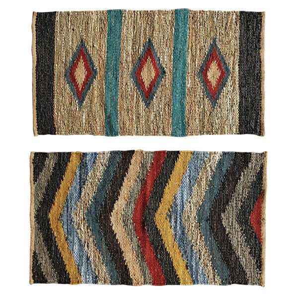 Louisa 2 Piece Multi Color Area Rug Set by Union Rustic