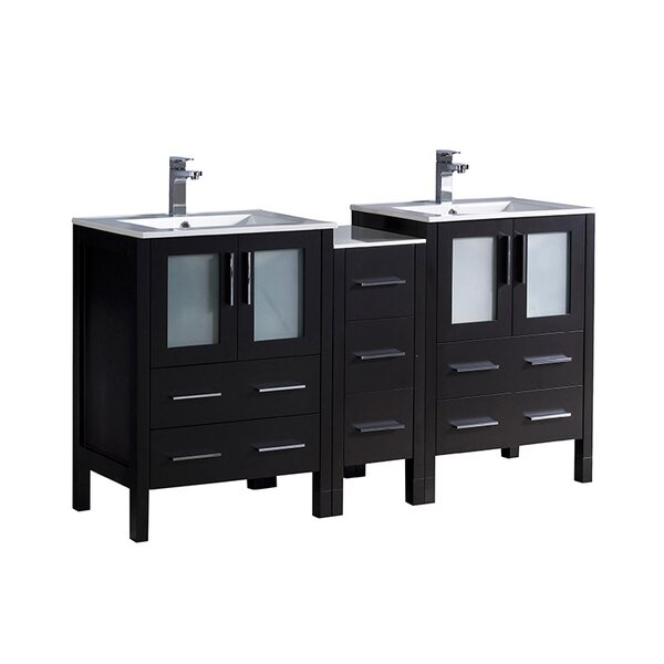Torino 60 Double Bathroom Vanity Set by Fresca
