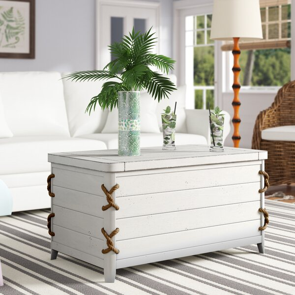 Chaz Solid Wood Coffee Table With Storage By Beachcrest Home