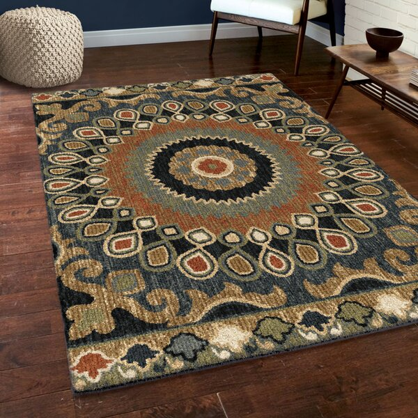 Cohee Blue/Brown/Beige Area Rug by Darby Home Co