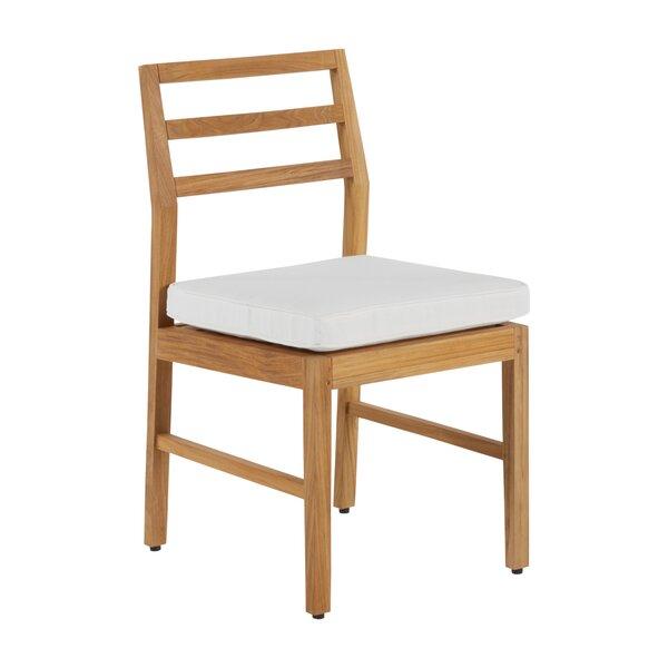 Santa Barbara Teak Patio Dining Chair with Cushion (Set of 2) by Summer Classics