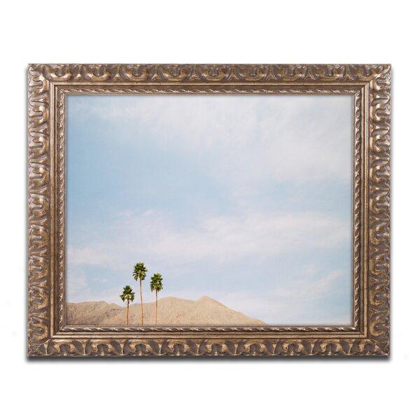 Three Palms by Ariane Moshayedi Framed Photographic Print by Trademark Fine Art