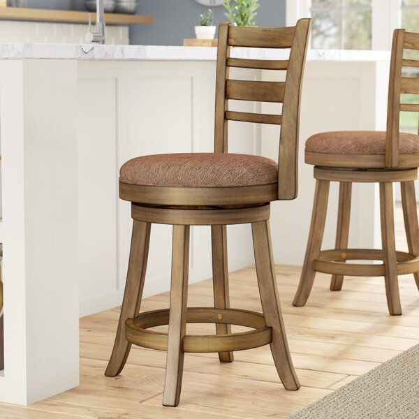 Zaquan Swivel Bar & Counter Stool by Gracie Oaks