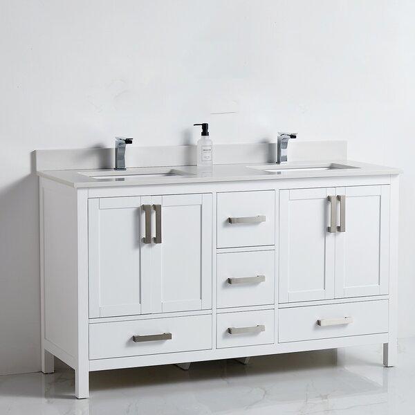Latasha 60 Double Bathroom Vanity Set