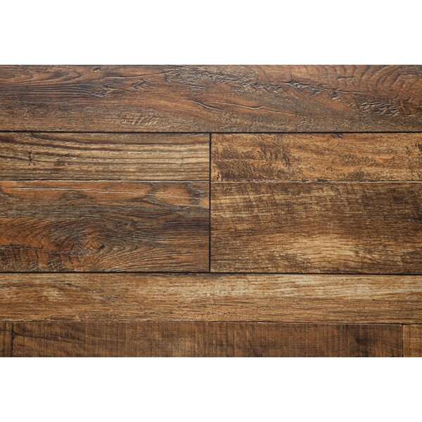 7.5 x 48 x 12mm Oak Laminate Flooring in Sable by Chic Rugz