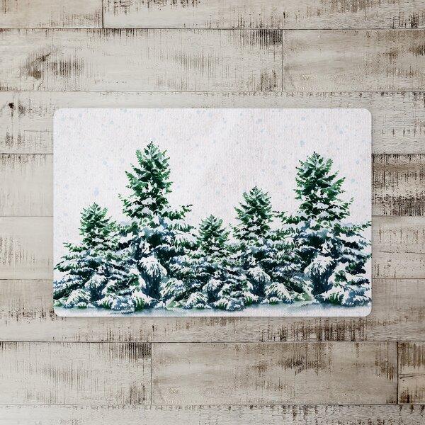 Grundy Winter Trees Kitchen Mat