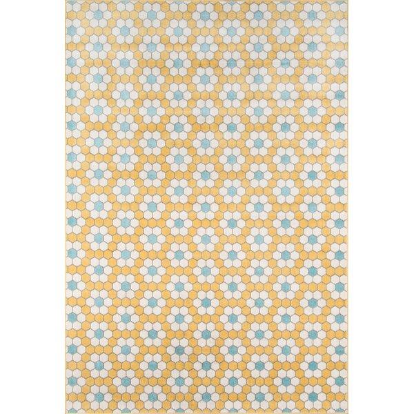 Hex Tile Indoor/Outdoor Yellow Area Rug by Novogratz
