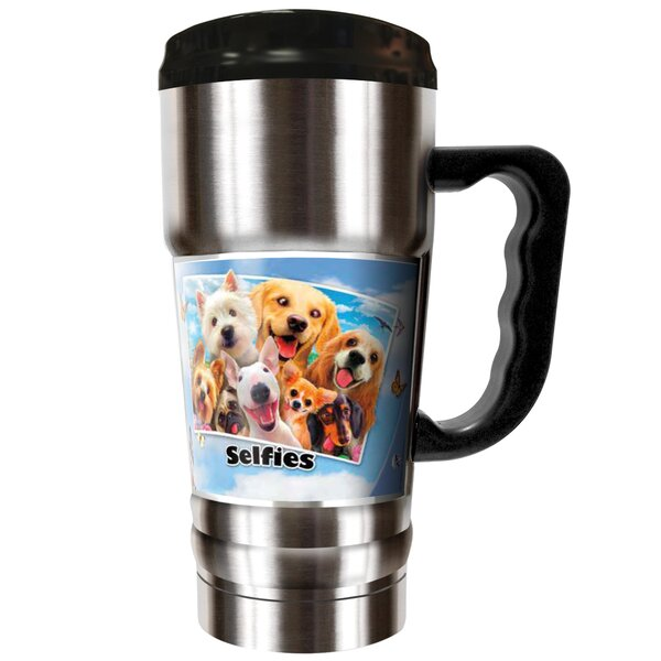 Dog Selfies 20 oz. Stainless Steel Travel Tumbler by Great American Products