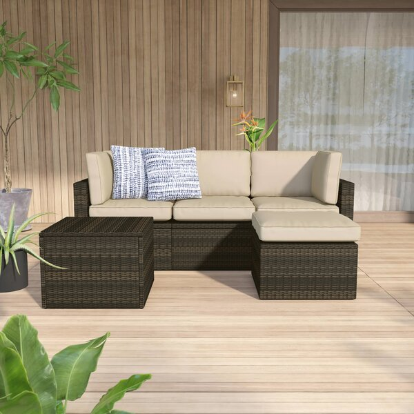 Belton 5 Piece Sectional Seating Group with Cushions by Mercury Row Mercury Row