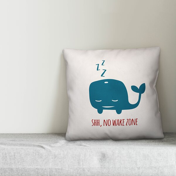 Jered Sleepy Whale Throw Pillow by Zoomie Kids