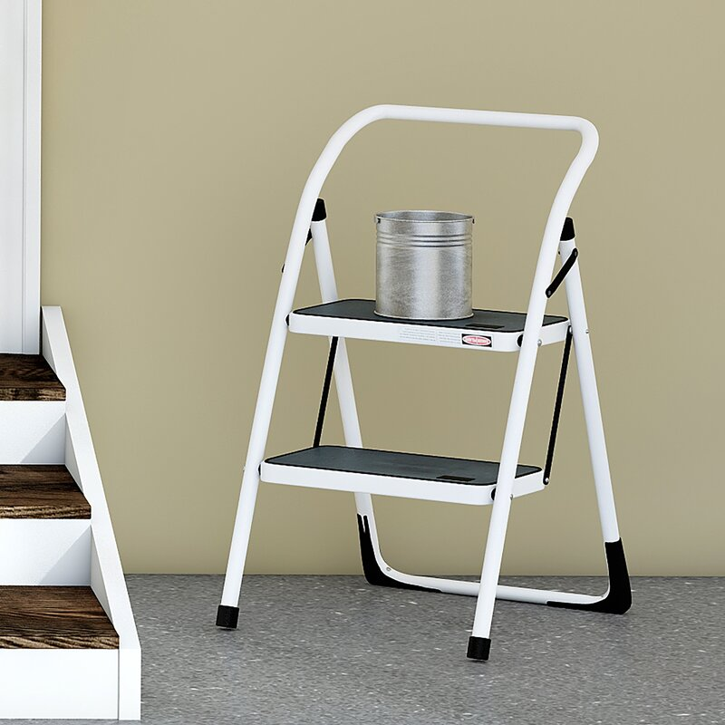 Wayfair Basics 2 Step Steel Step Stool with 300 lb. Load Capacity & Step Stools Youu0027ll Love | Wayfair islam-shia.org