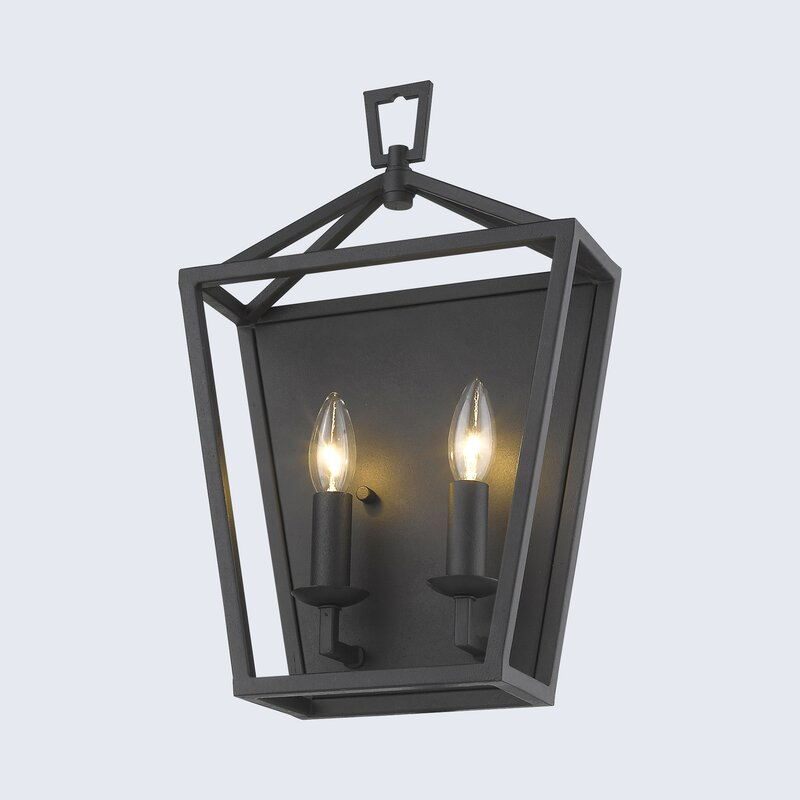 Metro Old World Charm 2-Light Dimmable Candle Wall Light