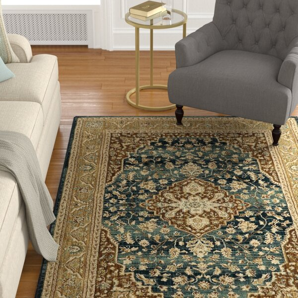 Lakemont Gold/Brown Area Rug by Darby Home Co