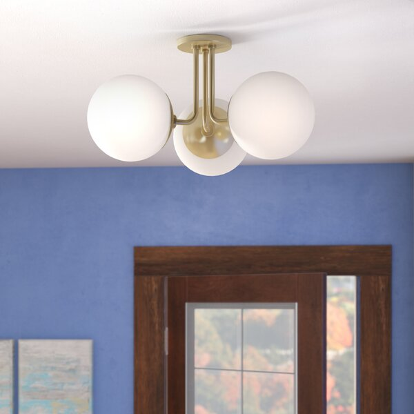 Samira 3-Light Semi Flush Mount by Langley Street