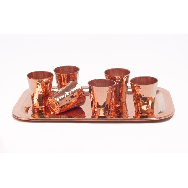 Sharpshooter 7 Piece Shot Glass Set by Sertodo Copper