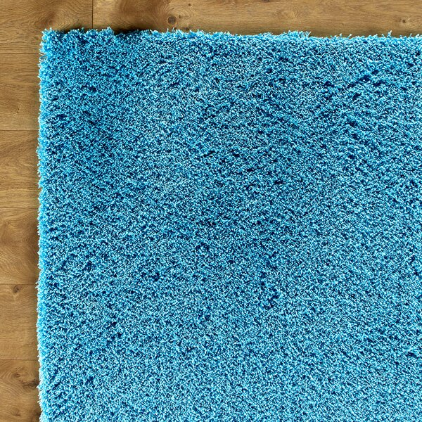 Shaggy Hand-Woven Blue Area Rug by Birch Lane Kids™