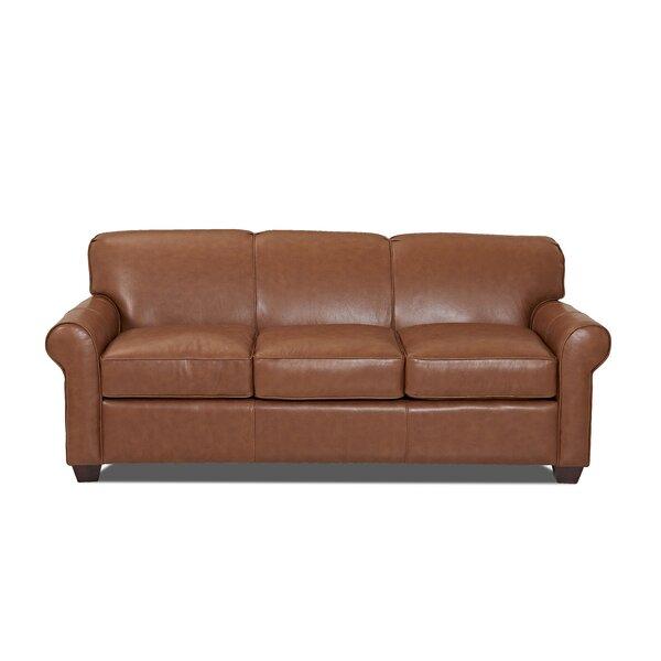 Jennifer Leather Sofa Bed by Wayfair Custom Upholstery™