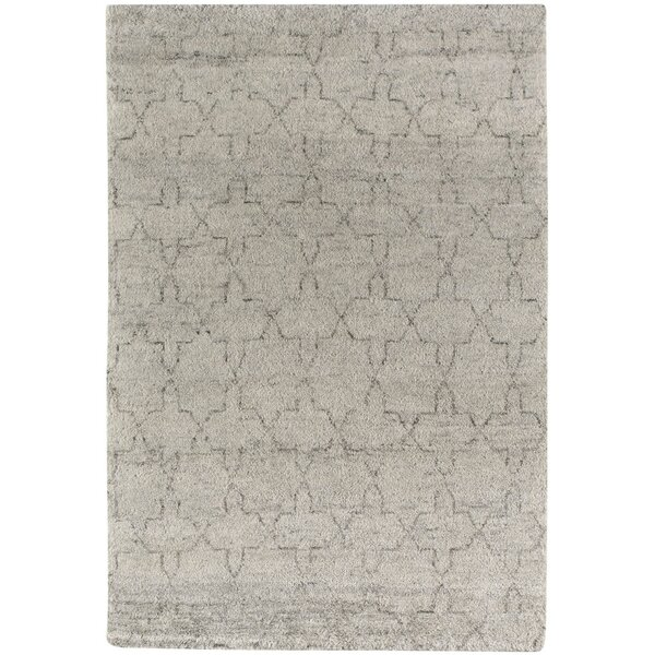 Fortress Star Hand-Knotted Gray Area Rug by Capel Rugs