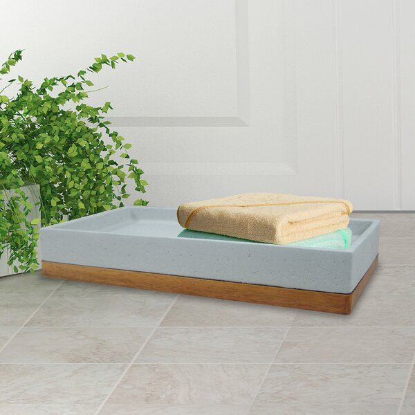 Stonington Concrete Stone/Wooden Amenity Tray by Greyleigh