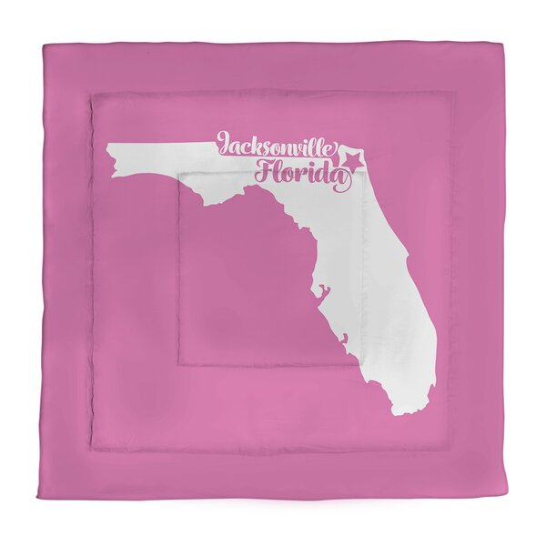Jacksonville Florida Single Reversible Comforter