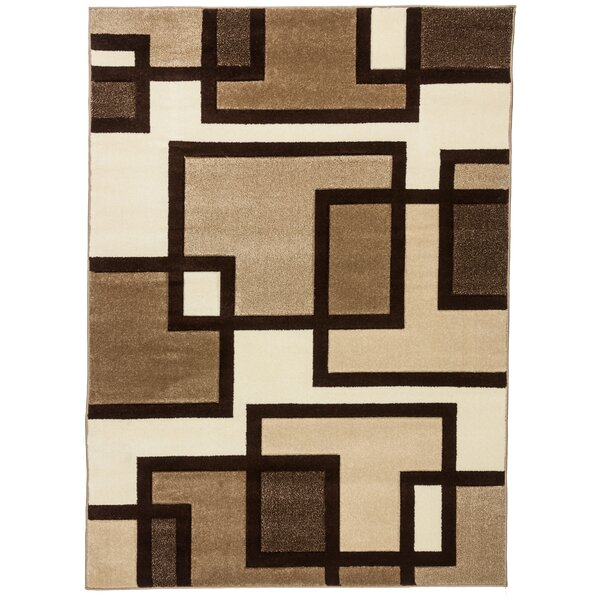 Ruby Imagination Squares Contemporary Area Rug by Well Woven