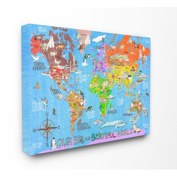 Our Big Beautiful World Map Canvas Art by Stupell Industries