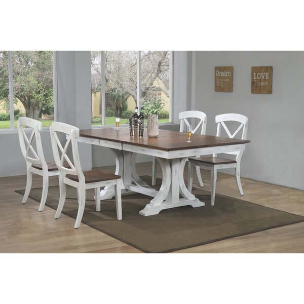Debbra 5 Piece Solid Wood Dining Set by Darby Home Co Darby Home Co