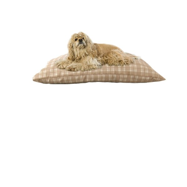 Indoor/Outdoor Shegang Dog Bed in Tan Plaid by Carolina Pet Company