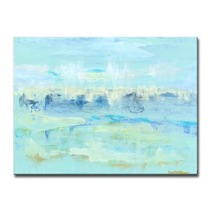 'Water Hints' Oil Painting Print on Canvas by Beachcrest Home