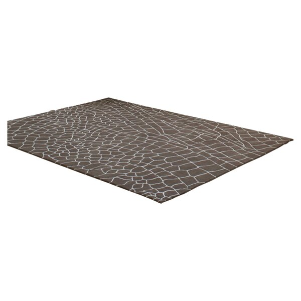 Hand Knotted Dragonfly Taupe Abstract Area Rug by GAN RUGS