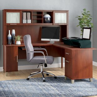 Order Kittle Somerset L-Shaped Executive Desk with Hutch By Latitude Run