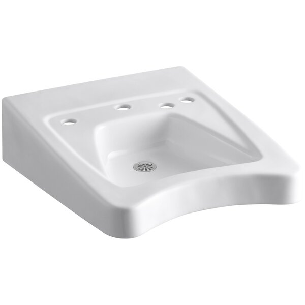 Morningside Ceramic 21 Wall Mount Bathroom Sink with Overflow by Kohler