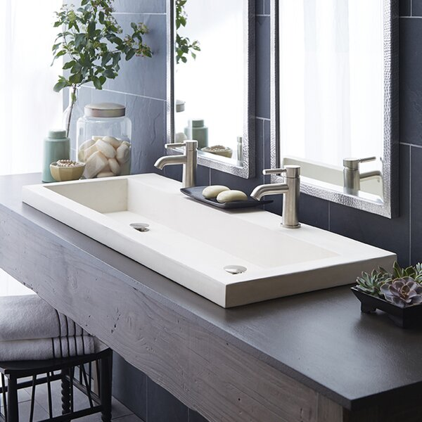 Trough Stone 48 Trough Bathroom Sink by Native Tra