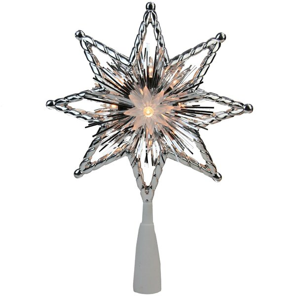 Retro Tinsel 8-Point Star Christmas Tree Topper by The Holiday Aisle