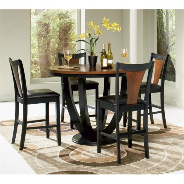 New Rhem 5 Piece Counter Height Dining Set By World Menagerie Savings