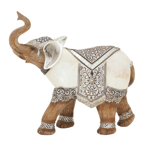 Matte Resin Elephant Figurine by World Menagerie