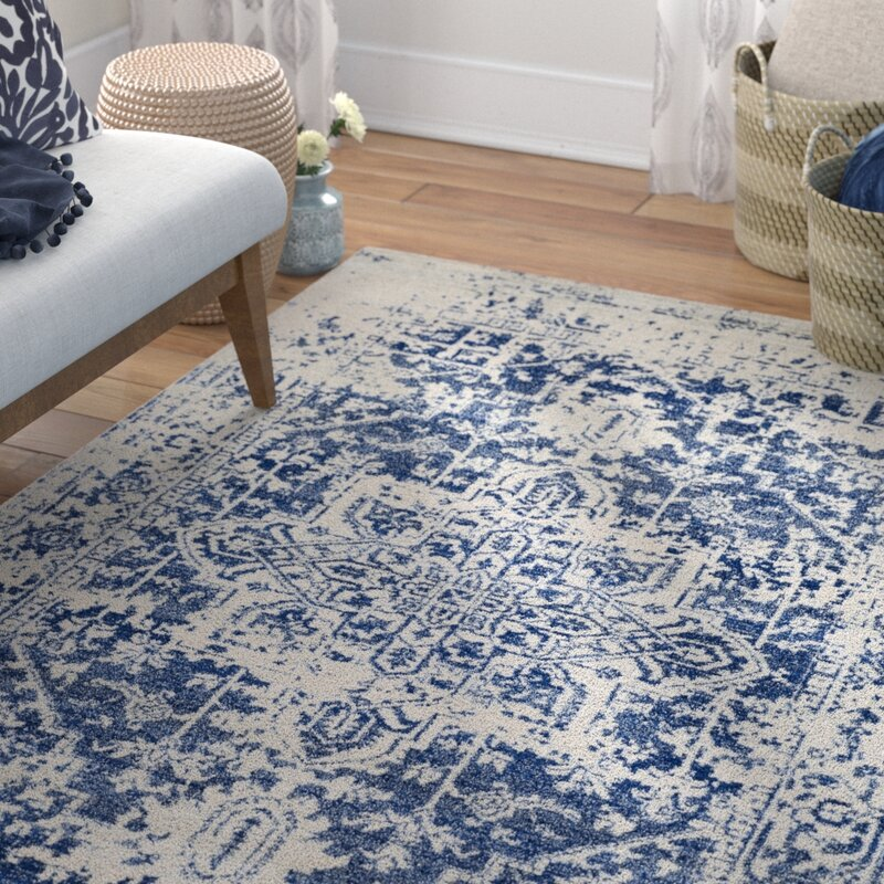 Blue And White Chinese Rugs: Mistana Hillsby Oriental Blue Area Rug & Reviews