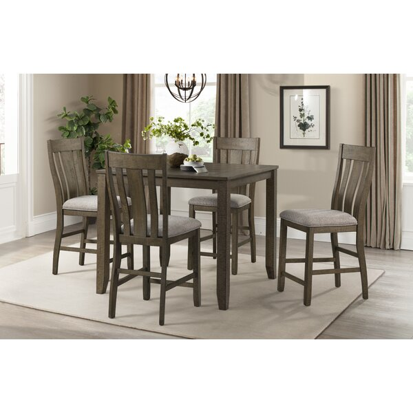 Cork Space Saver 5 Piece Pub Table Set by Gracie Oaks