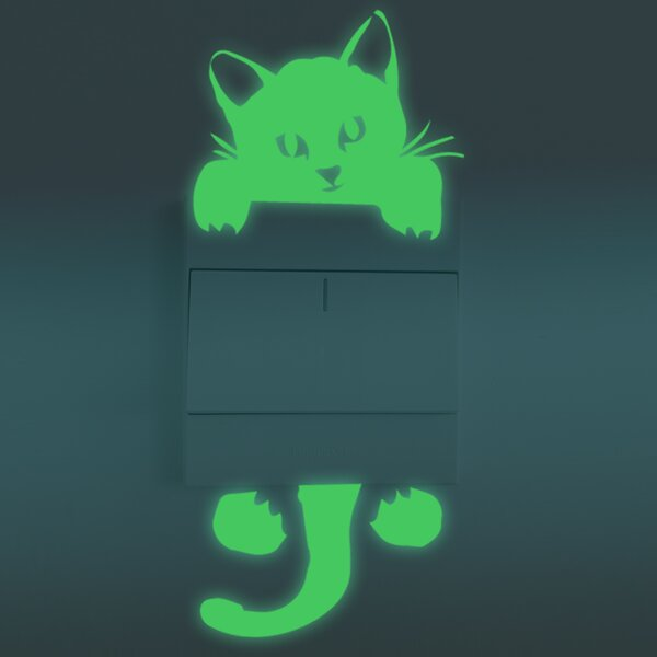 Cat Glowing Wall Decal by Walplus