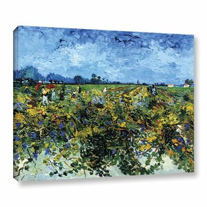 Green Vineyard by Vincent Van Gogh Painting Print on Canvas by Alcott Hill