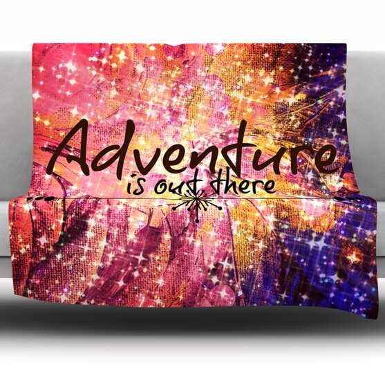 Adventure is Out There Fleece Throw Blanket by East Urban Home