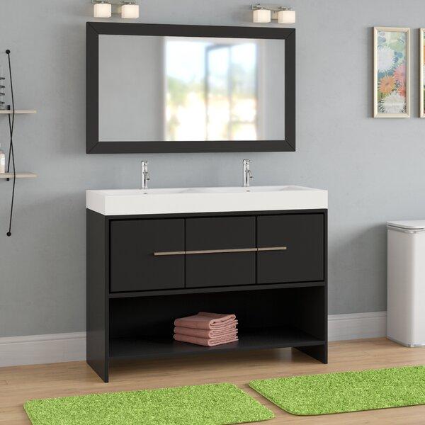 Chauncy 47 Double Bathroom Vanity Set with Mirror by Wade Logan