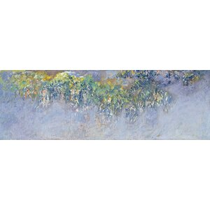 'Wisteria' by Claude Monet Painting Print on Wrapped Canvas by Lark Manor